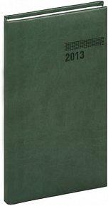 Diář 2013 - Tucson-Vivella - Kapesní, tmavě zelená, 9 x 15,5 cm