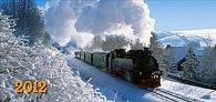 Vlaky - stolní kalendář 2012
