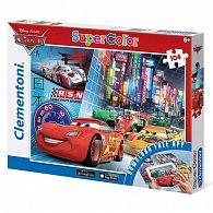 Puzzle Supercolor Auta App 104 dílků