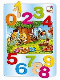 Včelka Mája - puzzle čísla