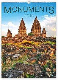 Kalendář 2015 - Monuments - nástěnný s prodlouženými zády