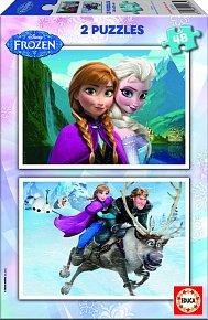 Puzzle Ledové Království 2v1 48 dílků