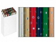 Balící papír vánoční role Snow Crystal