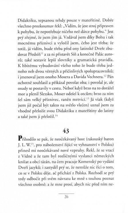 Náhled Komenského vlastní životopis - Autobiografie Komenského pro období 1628-1658