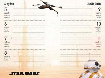Náhled Školní diář Star Wars Classic - září 2017 – prosinec 2018, 9,8 × 14,5 cm