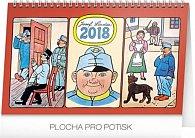 Kalendář stolní 2018 - Josef Lada – Švejk, 23,1 x 14,5 cm