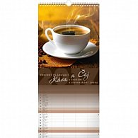 Kalendář nástěnný 2017 - Káva a čaj
