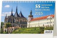 Kalendář stolní 2015 - 55 turistický nej + tipy na výlety s dětmi
