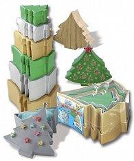 Dárkové krabičky ve tvaru stromečku 6 kusů