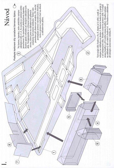 Náhled Hrad Strakonice - Jednoduchá vystřihovánka
