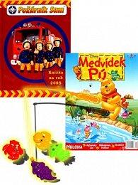 Balíček 2ks Požárník Sam Knížka na rok 2008 + časopis Medvídek Pú
