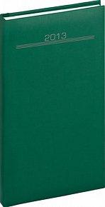 Diář 2013 - Capys - Kapesní Praktik, zelená, 9 x 15,5 cm
