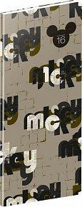 Diář 2016 - W. D. Mickey - kapesní plánovací měsíční,  8 x 18 cm