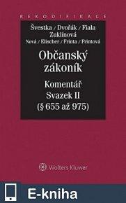 Občanský zákoník - Komentář - Svazek II (E-KNIHA)