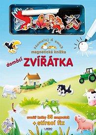 Domácí zvířátka - Namaluj & smaž - Magnetická knížka