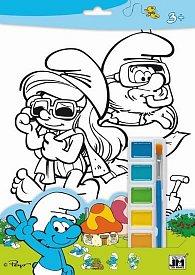 Šmoulové - Omalovánky s barvami A4