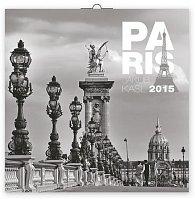Kalendář 2015 - Paříž Jakub Kasl - nástěnný (GB, DE, FR, IT, ES, NL)