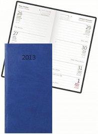 Diář koženkový 2012 - Print týdenní kapesní - modrá