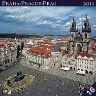 Kalendář 2011 - Praha (30x60) nástěnný poznámkový