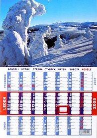 České a slovenské hory 2008 - nástěnný kalendář