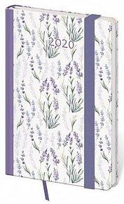 Diář 2020 - Vario/týdenní/kapesní/Lavender s gumičkou