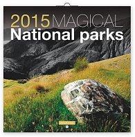 Kalendář 2015 - Magické národní parky Jakub Kasl - nástěnný (GB, DE, FR, IT, ES, NL)