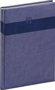 Diář 2013 - Aprint - Týdenní A5 Praktik, středně modrá, 15 x 21 cm