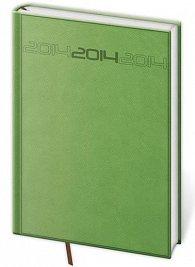 Diář 2014 - denní A5 PRAGA - zelená