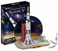 Puzzle 3D Raketa Saturn V - 68 dílků