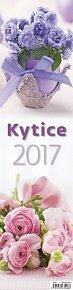 Kalendář nástěnný 2017 - Kytice 120x480cm