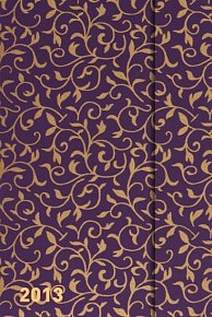 Diář 2013 - magnet. Softouch Violet 10,5 x 15,8 cm - CZ