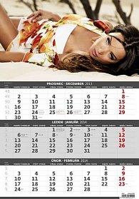Kalendář 2014 - Girl - 3měsíční - nástěnný