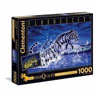 Puzzle Fluorescentní 1000 dílků Bílý tygr