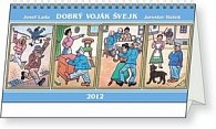 Kalendář stolní  2012 - Josef Lada - Švejk, 30 x 16 cm
