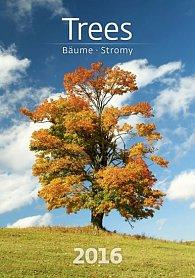 Kalendář nástěnný 2016 - Trees/Bäume/Stromy
