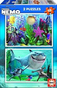 Puzzle Hledá se Nemo 2v1 48 dílků