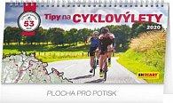 Kalendář stolní 2020 - Tipy na cyklovýlety, 30 × 16 cm