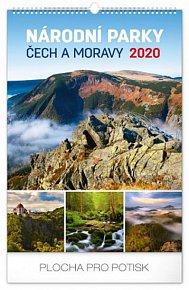 Kalendář nástěnný 2020 - Národní parky Čech a Moravy, 33 × 46 cm