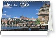 Kalendář stolní  2012 - Praha, 23,1 x 14,5 cm