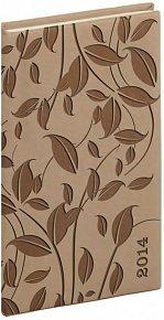 Diář 2014 - Tucson-Vivella speciál - Kapesní, krémová, lístky (ČES, SLO, ANG, NĚM)