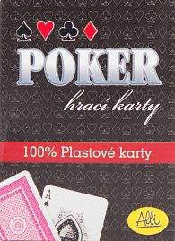 Poker plastové karty modré