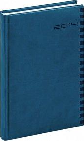 Diář 2014 - Ontario - Denní B6, královská modrá (ČES, SLO, ANG, NĚM)