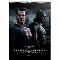 Kalendář nástěnný 2017 - Batman v Superman/Plakáty