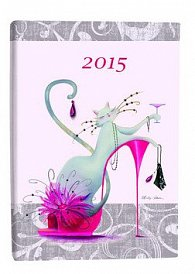 Diář B6 Catitudes denní 2015
