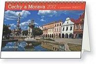 Kalendář stolní  2012 - Čechy a Morava památky UNESCO, 23,1 x 14,5 cm