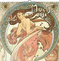 Kalendář 2014 - Alfons Mucha - nástěnný poznámkový (ČES, SLO, MAĎ, POL, RUS, ANG)