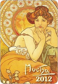Diář 2012 kapesní spirálový - Alfons Mucha