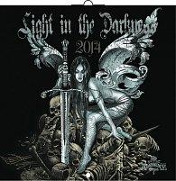 Kalendář 2014 - Light in the Darkness (Gothic) - nástěnný poznámkový  (ČES, SLO, MAĎ, POL, RUS, ANG)