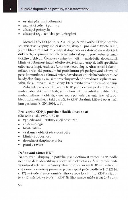 Náhled Klinické doporučené postupy v ošetřovatelství