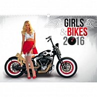 Kalendář nástěnný 2016 - Girls & Bikes - Jim Gianatsis,  48 x 33 cm
